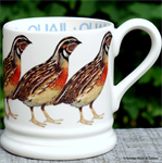 Emma Bridgewater, half pint mugs, vogels, kippen, year in the country, t' Hoorntje Woon& Cadeau is een officiële Emma Bridgewater dealer