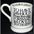 emma bridgewater. ½ pint mug Black Toast MRS