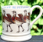 Emma Bridgewater sale. half pint mugs great bustard
