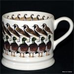 Emma Bridgewater baby mug winter birds 2010