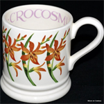 Emma Bridgewater sale. ½ pint mugs Flowers, Crocosmia