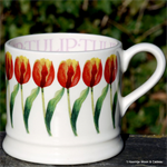 Emma Bridgewater baby mug red tulips