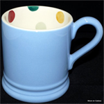 emma bridgewater ½ pint mug blue polka dot