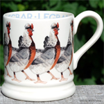 emma bridgewater. ½ pint mug Legbar / servies