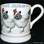 emma bridgewater ½ pint mugs / servies. alles van Black Toast van Emma Bridgewater.polka dot. new flowers, animals, hens