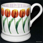 emma bridgewater ½ pint mug red tulips