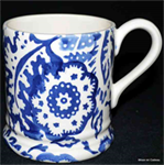Emma Bridgewater ½ pint mug blue wallpaper