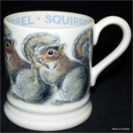 emma bridgewater ½ pint mug grey squirrel