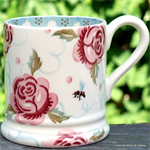 emma bridgewater Rose & Bee ½ pint mug