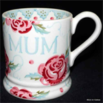 emma bridgewater rose & bee mum ½ pint mug