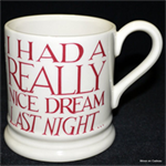 emma bridgewater Nice Dream ½ pint mug