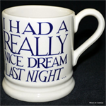 emma bridgewater nice dream blue ½ pint mug