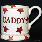 emma bridgewater sale. ½ pint mug red star