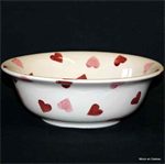 emma bridgewater. cereal bowl Pink Hearts