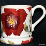 emma bridgewater sale. Christmas Rose ½ pint mug