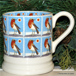 emma bridgewater sale. Christmas Stamps  ½ pint mug Robin
