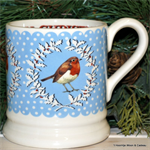 emma bridgewater Christmas Wreath Robin