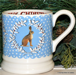 emma bridgewater Christmas Wreath Hare ½ pint mug