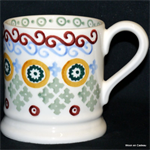 emma bridgewater sale. folk border ½ pint mug
