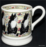 emma bridgewater servies Black & White Cat ½ pint mug