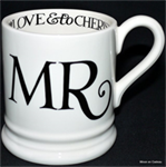 emma bridgewater. ½ pint mug black toast MR