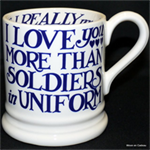 emma bridgewater soldiers in uniform ½ pint mug