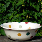emma bridgewater. cereal bowl polka dot