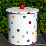 emma bridgewater. polka dot biscuit barrel