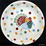 Emma Bridgewater pasta bowl polka dot turkey