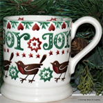 Emma Bridgewater ½ pint mug christmas joy robin