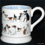 Emma Bridgewater ½ pint mug all over terrier