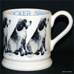Emma Bridgewater cocker spaniel black & white half pint mug
