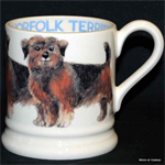 Emma Bridgewater ½ pint mug norfolk terrier