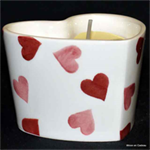 Emma Bridgewater heart candle pink hearts