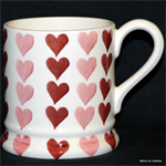 Emma Bridgewater sale. ½ pint mug pink hearts stacks