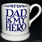 Emma Bridgewater. ½ pint mug Blue Toast Dad Rocks