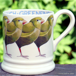 Emma Bridgewater. half pint mug greenfinch