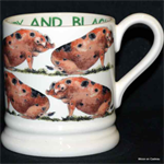 Emma Bridgewater. ½ pint mug sandy & black