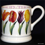 Emma Bridgewater ½ pint mug Coloured Tulips