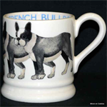 Emma Bridgewater sale. French Bulldog ½ pint mug