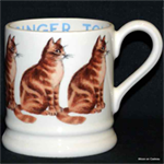 Emma Bridgewater servies, ½ pint mug ginger Tom 2016