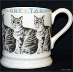 Emma Bridgewater ½ pint mug tabby cat