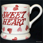 Emma Bridgewater sale. ½ pint mug pink hearts
