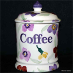 Emma Bridgewater. 1 pint storage jar coffee wallflower