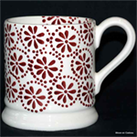 Emma Bridgewater Red Daisy Spot ½ pint mug