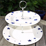 Emma Bridgewater 2 tier cake stand starry skies