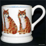 Emma Bridgewater long hair ginger cat ½ pint mug