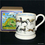 Emma Bridgewater sale. ½ Pint Mug All over Lurcher