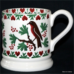 Emma Bridgewater Christmas Joy Robin ½ Pint Mug