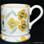 Emma Bridgewater sale.  Yellow Wallflower ½ Pint Mug